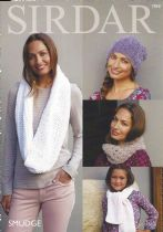 Sirdar Smudge - 7868 Accessories Knitting Pattern